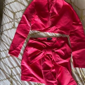 Hot pink two piece PLT w/ big bow